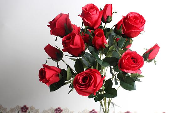 仿真玫瑰花优势,在客厅放置仿真花有什么讲究吗